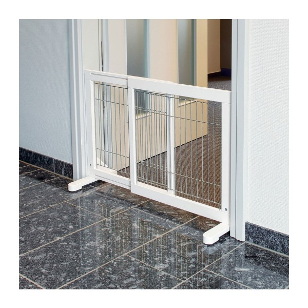 Trixie Hunde-Absperrgitter 65–108×61cm weiß
