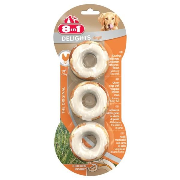 8in1 Delight žvýkací kroužky, 3 kusy