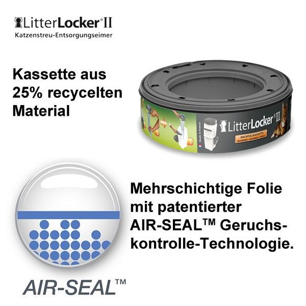 LitterLocker II - Nachfüllkassette für den Katzenstreu Entsorgungseimer