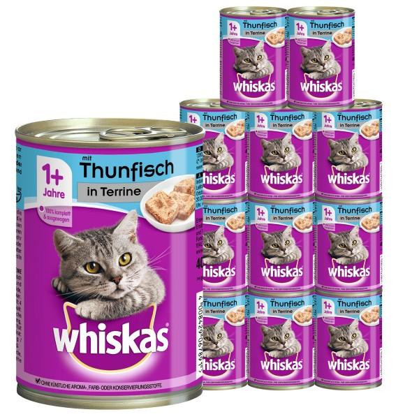 Whiskas Katzenfutter 1+ mit Thunfisch in Terrine 12x400g