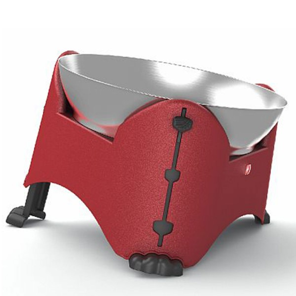 Rotho MyPet Verstellbarer Futternapf 2,5l Rot