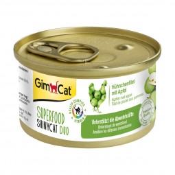 GimCat Superfood ShinyCat Duo Hühnchenfilet mit Äpfeln