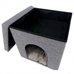 Trixie quadratische Kuschelhöhle Alois 38 × 40 × 38 cm grau
