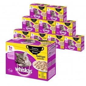 Whiskas 120er Mega-Multipack Katzenfutter in verschiedenen Sorten