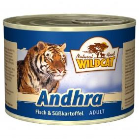 Wildcat Andhra mit Fisch und Süßkartoffel