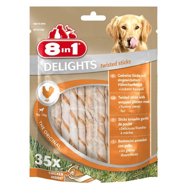 8in1 Hundesnack Delights Chicken Twisted Sticks