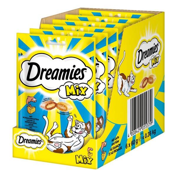 Dreamies Katzensnack Mix mit Lachs & Käse