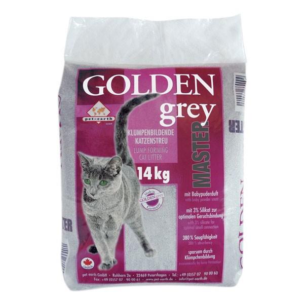 Golden Grey Master Katzenstreu mit Babypuderduft 14kg