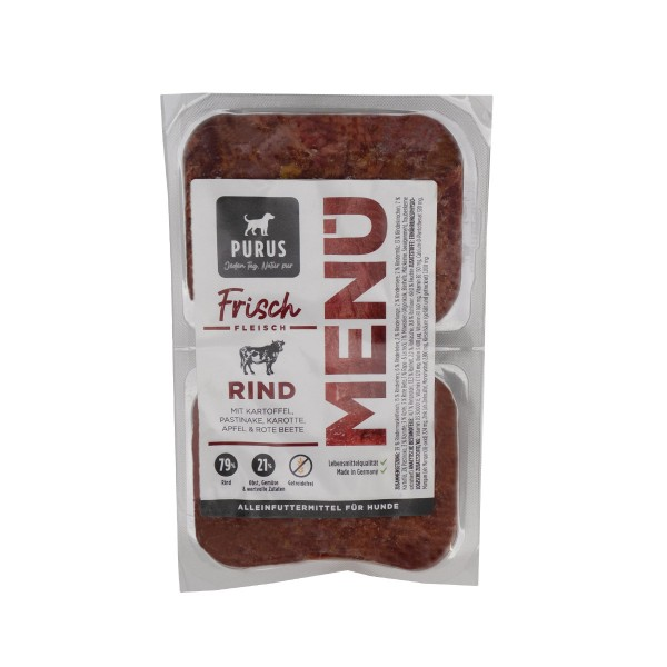 Purus Frischfleisch Menü Mixpaket 14kg Paket