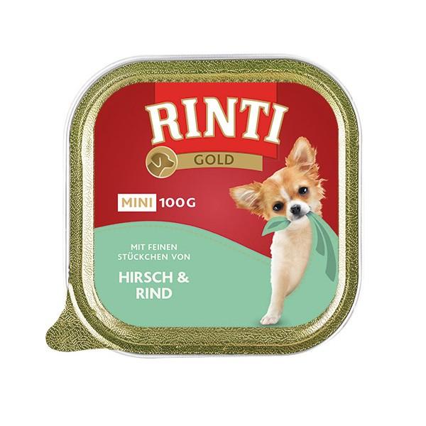 Rinti Gold Mini mit feinen Stückchen von Hirsch und Rind 100g