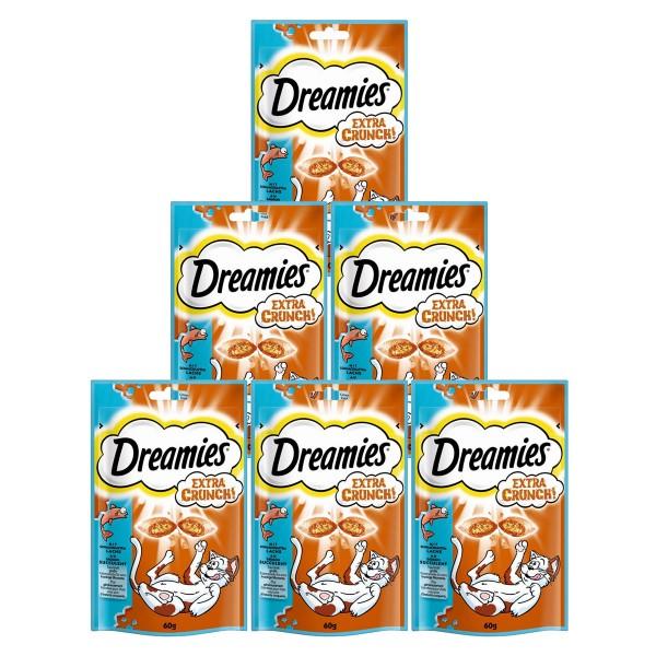 Dreamies Katzensnack Extra Crunch mit Lachs 6x60g