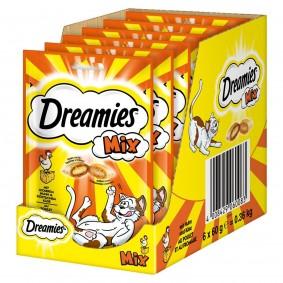 Dreamies Katzensnack Mix Huhn+Käse 6x60g