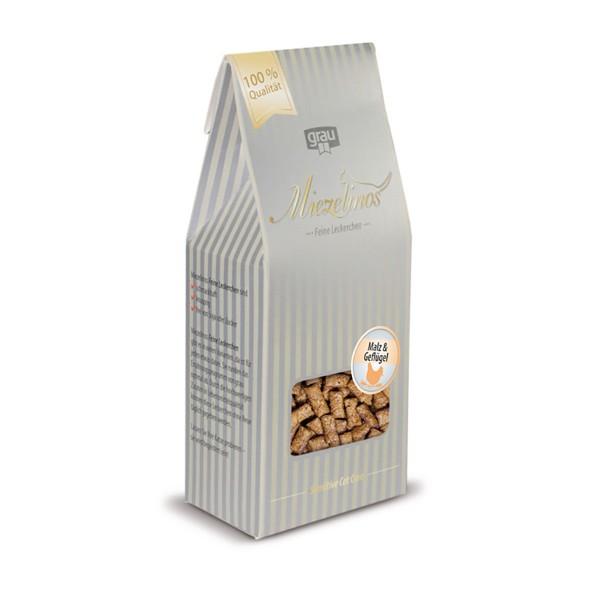 Grau Miezelinos Katzensnacks Malz und Geflügel 80g