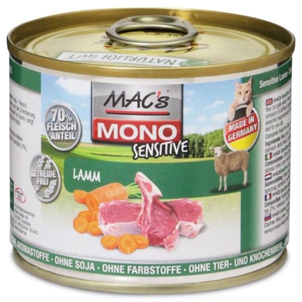 MAC´s Cat MAC's Cat Mono Sensitive Lamm - 200g
