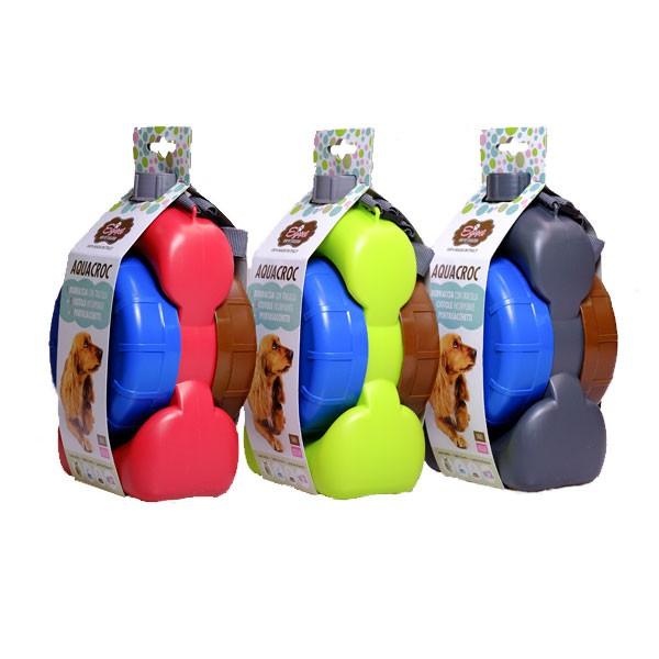 Egopet Aquacroc Hundetrinkflasche medium ohne Kühlakku 1l