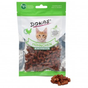 Dokas Katzensnack Hühnchen mit Reis & Sesam