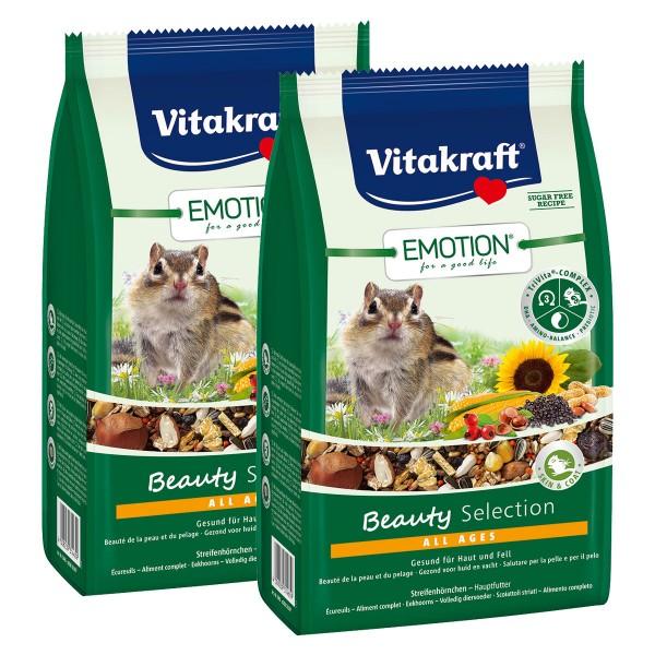 Vitakraft Emotion Beauty Selection Streifenhörnchen 2x600g