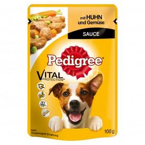 Pedigree Pâtée poulet & légumes en sauce pour chiens