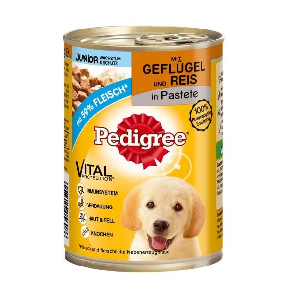 Pedigree Junior mit Geflügel & Reis