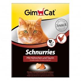 GimCat Schnurries mit Taurin plus Hühnchen