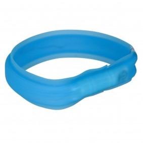 Trixie USB Flash svítící obojek, modrý