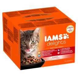 Iams Delights Multipack Land & Sea Collection in Sauce
