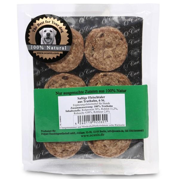 O'Canis Hundesnack Fleischtaler aus Truthahn 6 Stück