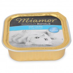 Miamor Ragout Royale Lachs in Joghurtcream 100g Alu-Schale