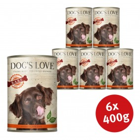 Dog's Love Nassfutter B.A.R.F Rind Pur
