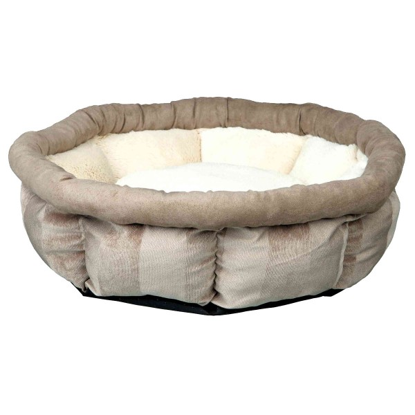 Jollypaw Bett Jasper rund ø 45 cm, beige/grau