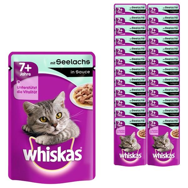 Whiskas Katzenfutter 7+ Seelachs in Sauce 24x100g