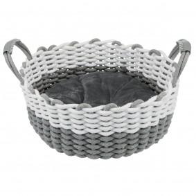 Trixie Korb Nabou, gewebt - grau/weiß ø 45cm