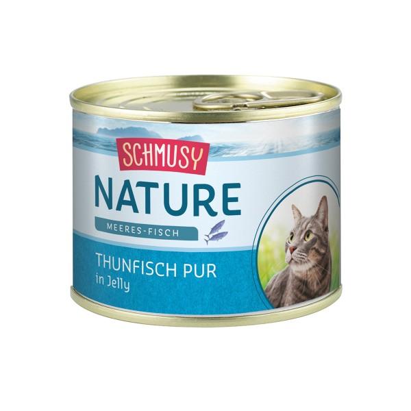 Schmusy Katzenfutter Nature Meeres-Fisch Thunfisch 12x185g