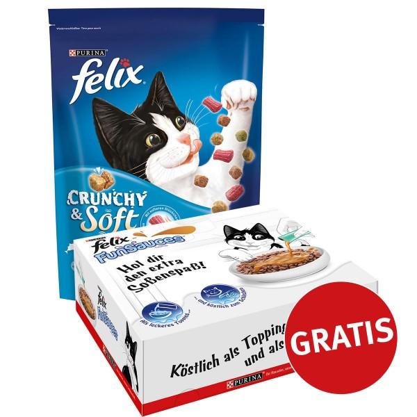 Felix Crunchy & Soft Fisch 4x950g plus FunSauce...