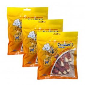 Hansepet Cookies Delikatess-Hähnchenfilet mit Seelachsstreifen 3x200g