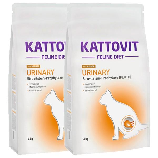 Kattovit Katzenfutter Urinary Huhn2x4kg