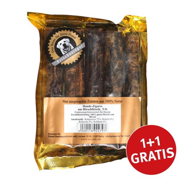 O´Canis Hundesnack Zigarre Hirschfleisch 5 Stück + 5 Stück GRATIS