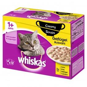 Whiskas 12er Multipack 1+ Creamy Soups Geflügelauswahl 12x85g