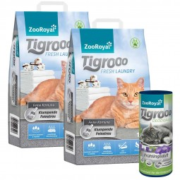 ZooRoyal Tigrooo Fresh Laundry 2x14L mit Deodorant Frühlingsduft 700g