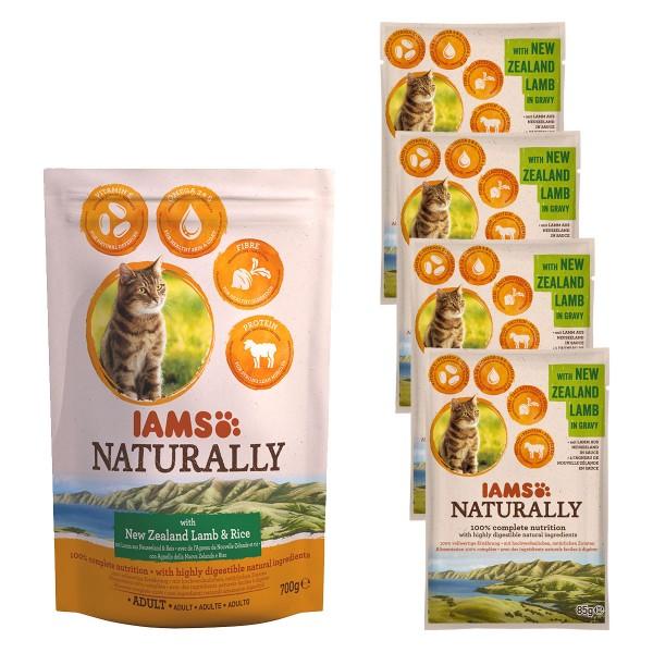 IAMS Naturally Probierpaket Lamm & Reis 700g + ...