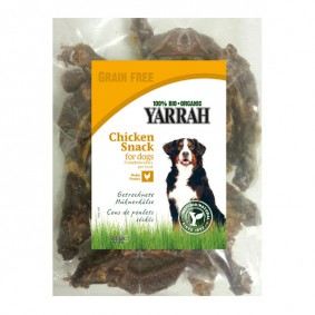 Yarrah Hundesnack Bio Hühnerhälse getrocknet 150g