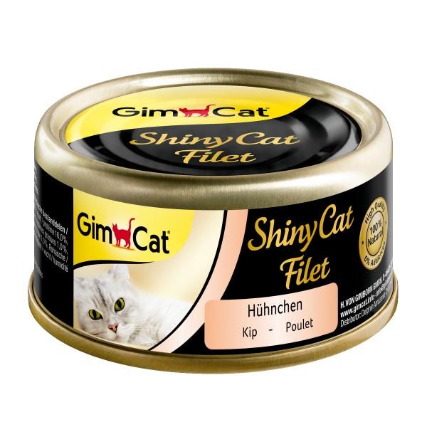 GimCat ShinyCat Filet Hühnchen 6x70g