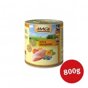 MAC's Dog Hunde-Nassfutter Pute & Heidelbeeren