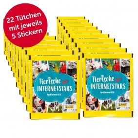 PANINI Tierische Internetstars Sammelsticker 100er Pack + 10 GRATIS (22 Tütchen)