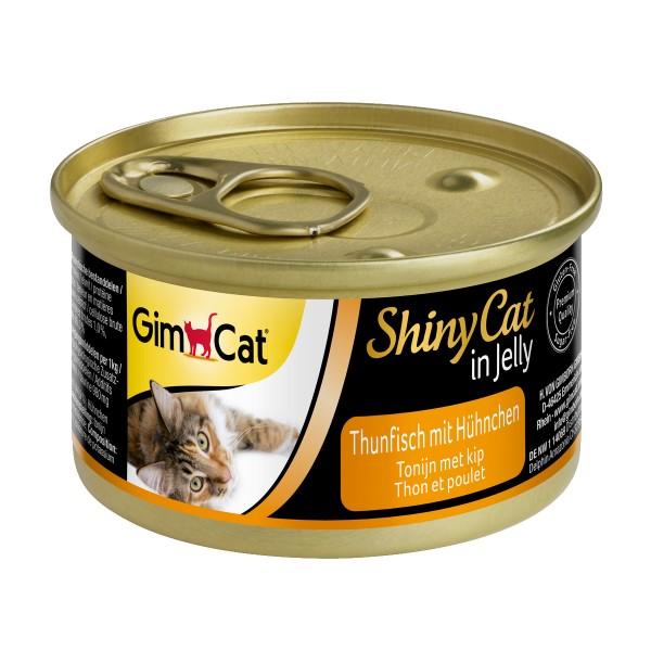GimCat Katzenfutter ShinyCat Thunfisch mit Hühnchen in Jelly