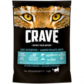 Crave Adult Losos a bělice, 750 g
