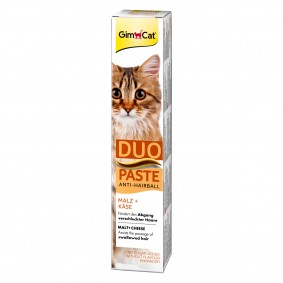 GimCat Anti-Hairball-Duo-Paste Käse + Malz, 50 g