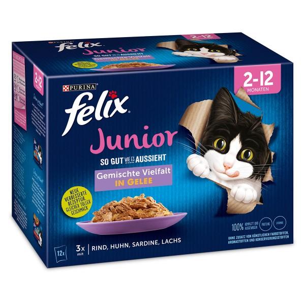 FELIX So gut wie es aussieht in Gelee Junior gemischte Vielfalt 12x85g