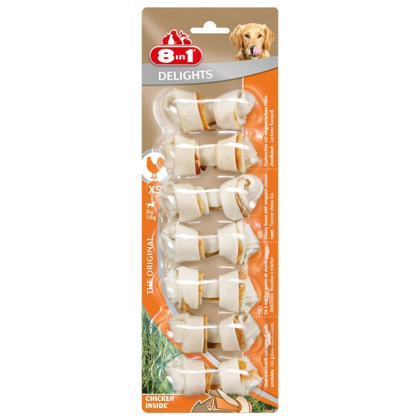 8in1 Delights Kauknochen Chicken/Huhn