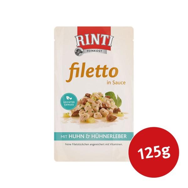 Rinti Hunde-Nassfutter Filetto in Sauce Huhn und Hühnerleber